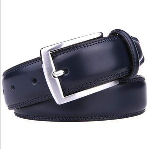 Fabio Valenti Black Leather Belt